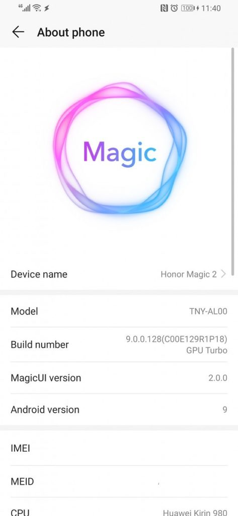 Honor Magic 2 Gets Firmware, Replaces Emui 9.0 With Magic Ui 2.0