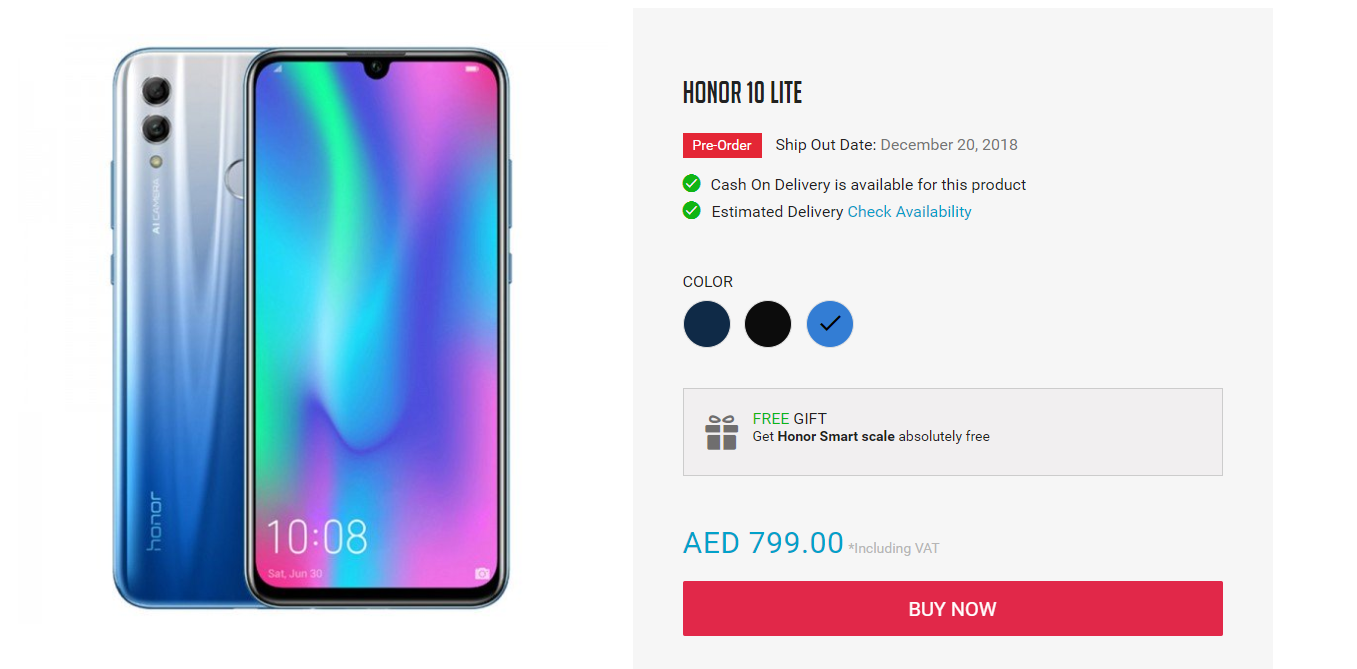 Honor 10 Lite Now In The World For Pre-order In Pakistan, Uae, And Saudi Arabia