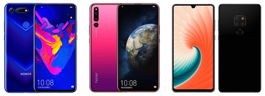 Honor Magic 2 Vs Honor V20 Vs Huawei Mate 20