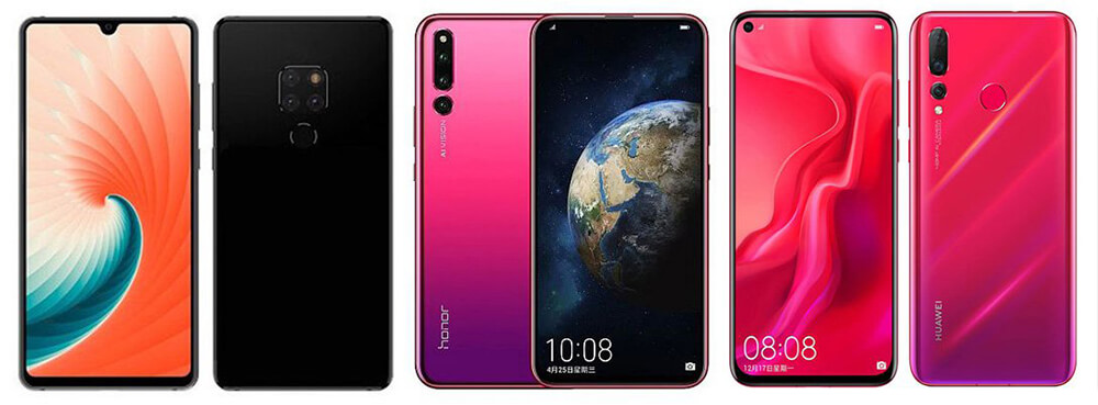 Huawei Mate 20 Vs Honor Magic 2 Vs Huawei Nova 4