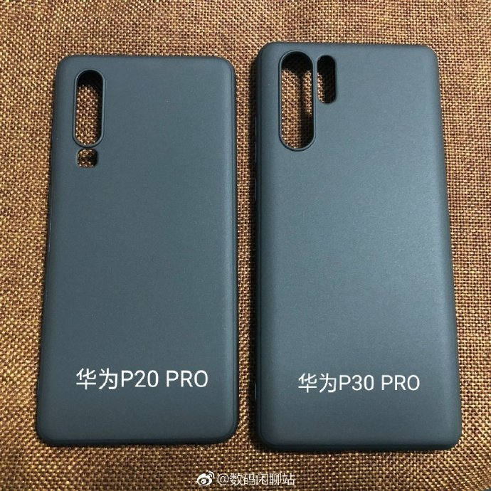Huawei P30 And P30 Pro Skin Pictures Demonstrate Quad Cameras And Multiple Led Flash