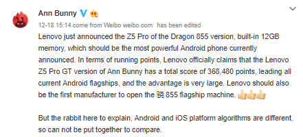 Lenovo Z5 Pro Beats Iphones Xs, Xs Max In Benchmarks, But Antutu Says Results Are Not Comparable