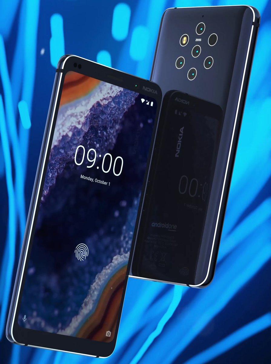 Nokia 9 Pureview Press Render Confirms Design, Five Cameras And Panel Fingerprint Camera Sensor
