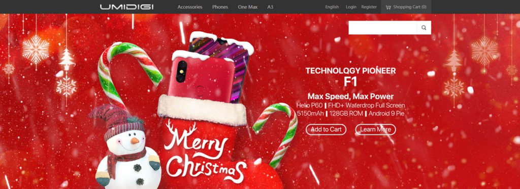 Umidigi Unveils Its Official Online Store For Christmas Gross Sales With Gifts On Offer