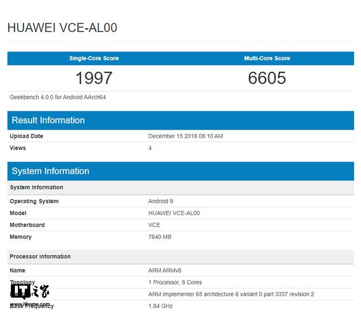 Huawei Nova 4 Appears To Be On Geekbench And Antutu Benchmark With Kirin 970 + 8gb Ram