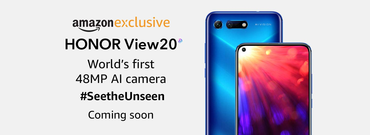 Honor View20 India Release Teased By Amazon India, Confirmed To Be An Amazon-exclusive Smartphone
