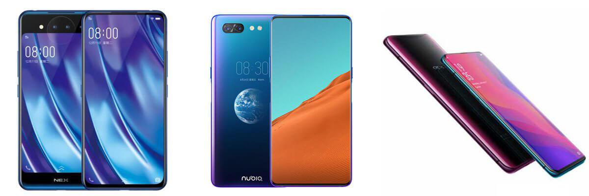 Vivo Nex Dual Display Vs Nubia X Vs Oppo Find X