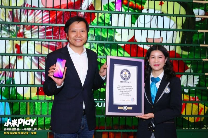 Xiaomi Play Sets Guinness {worldrecord For The Biggest Mobile-based Dynamic Puzzle
