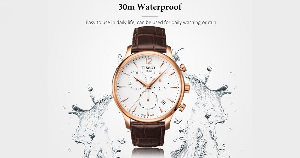 economico per lo sconto 997d8 a98ed 🔥TISSOT Classico elegante orologio al quarzo con cinturino ...