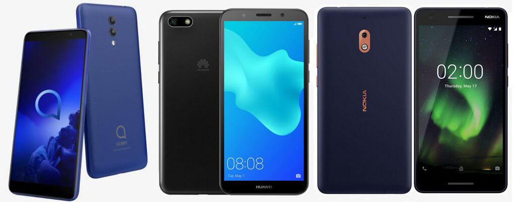 Alcatel 1x (2019) Vs Huawei Y5 Lite Vs Nokia 2.1