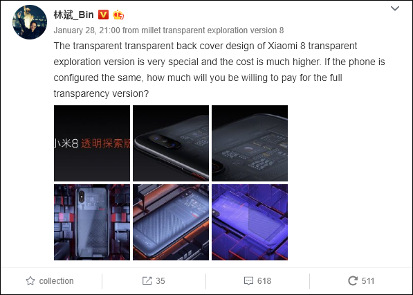 Lin Bin Displays The Xiaomi Mi 9 Will Get An Explorer Edition