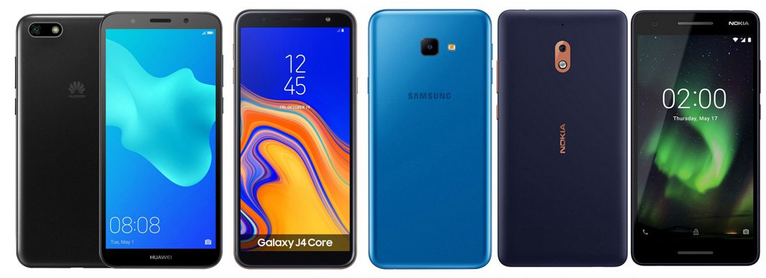 Nokia 2.1 Vs Huawei Y5 Lite Vs Samsung Galaxy J4 Core