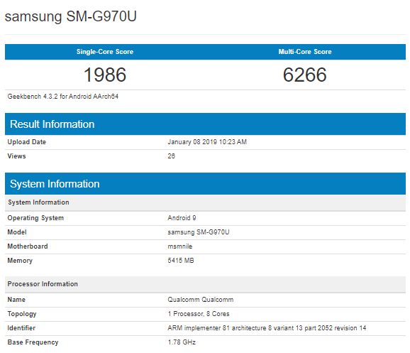 Samsung Galaxy S10 Lite Geekbench Listing Reveals Sd 855, 6 Gb Ram?