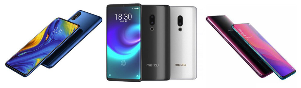 Xiaomi Mi Mix 3 Vs Meizu Zero Vs Oppo Find X