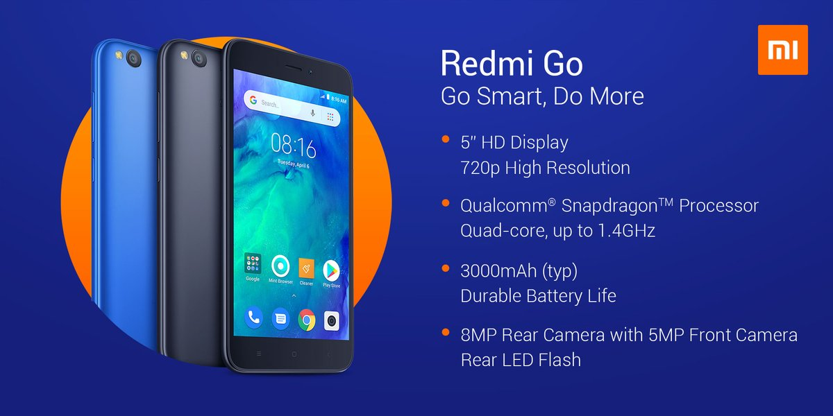 Xiaomi Launches Redmi Go Android Go Smartphone For Eur80