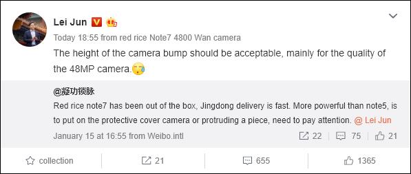 Redmi Note 7 Has A Significant Digital Camera Bump, User Complains