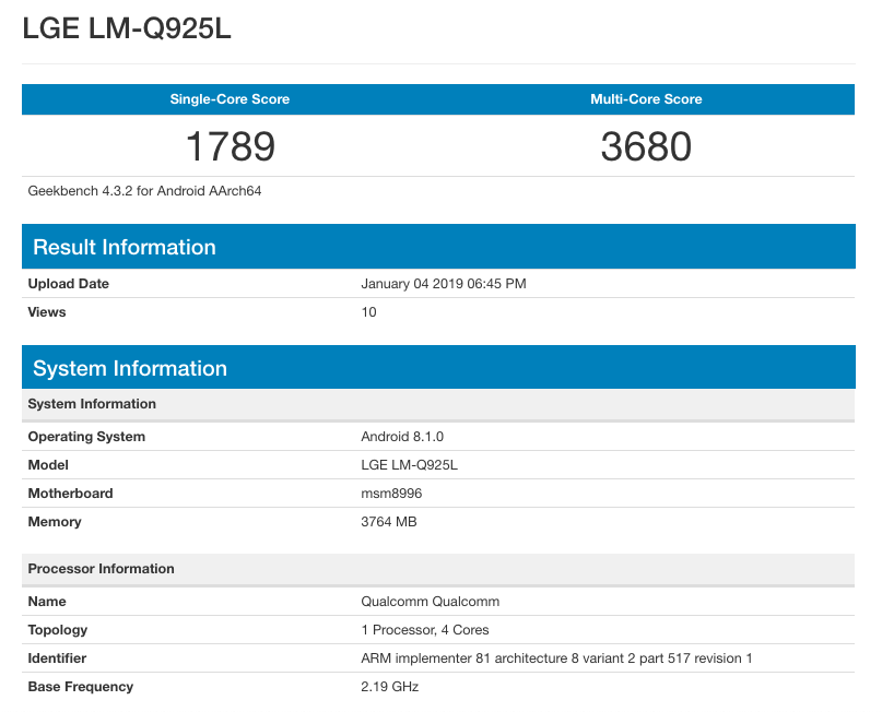 Lg Q9 Spotted On Geekbench And Q9 One Passes Bluetooth Sig Certification, Release Imminent
