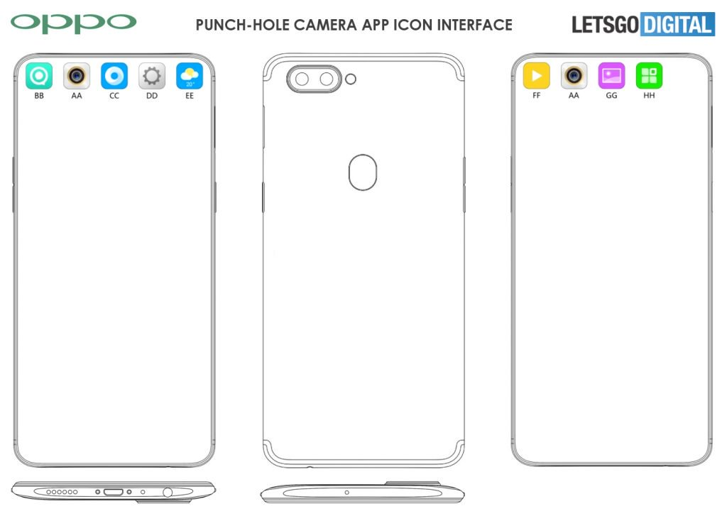 Oppo Punch-hole Display Patent Found