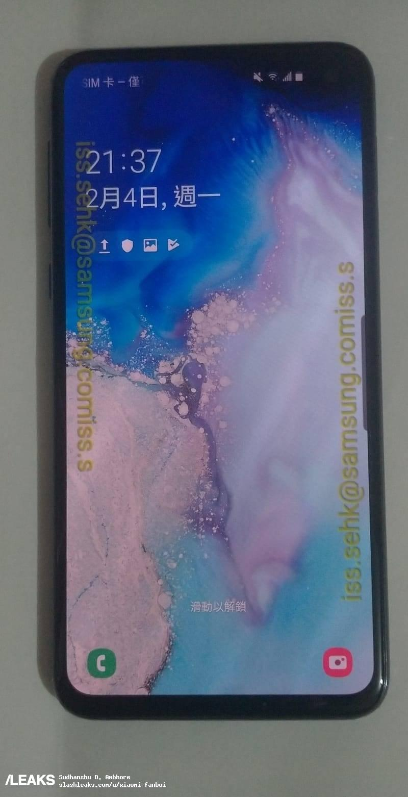Galaxy S10e Live Images Shows Infinity-o Screen