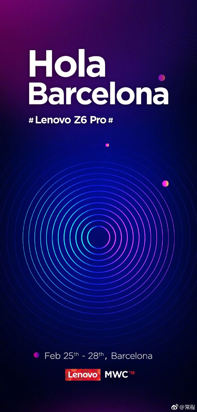 Lenovo Z6 Pro Established To Release At Mwc 2019