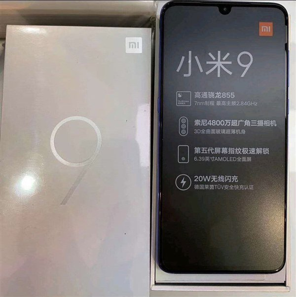 Xiaomi Mi 9 Live Shot Confirms Fastest 20w Wireless Charging And Primary Technical Specs