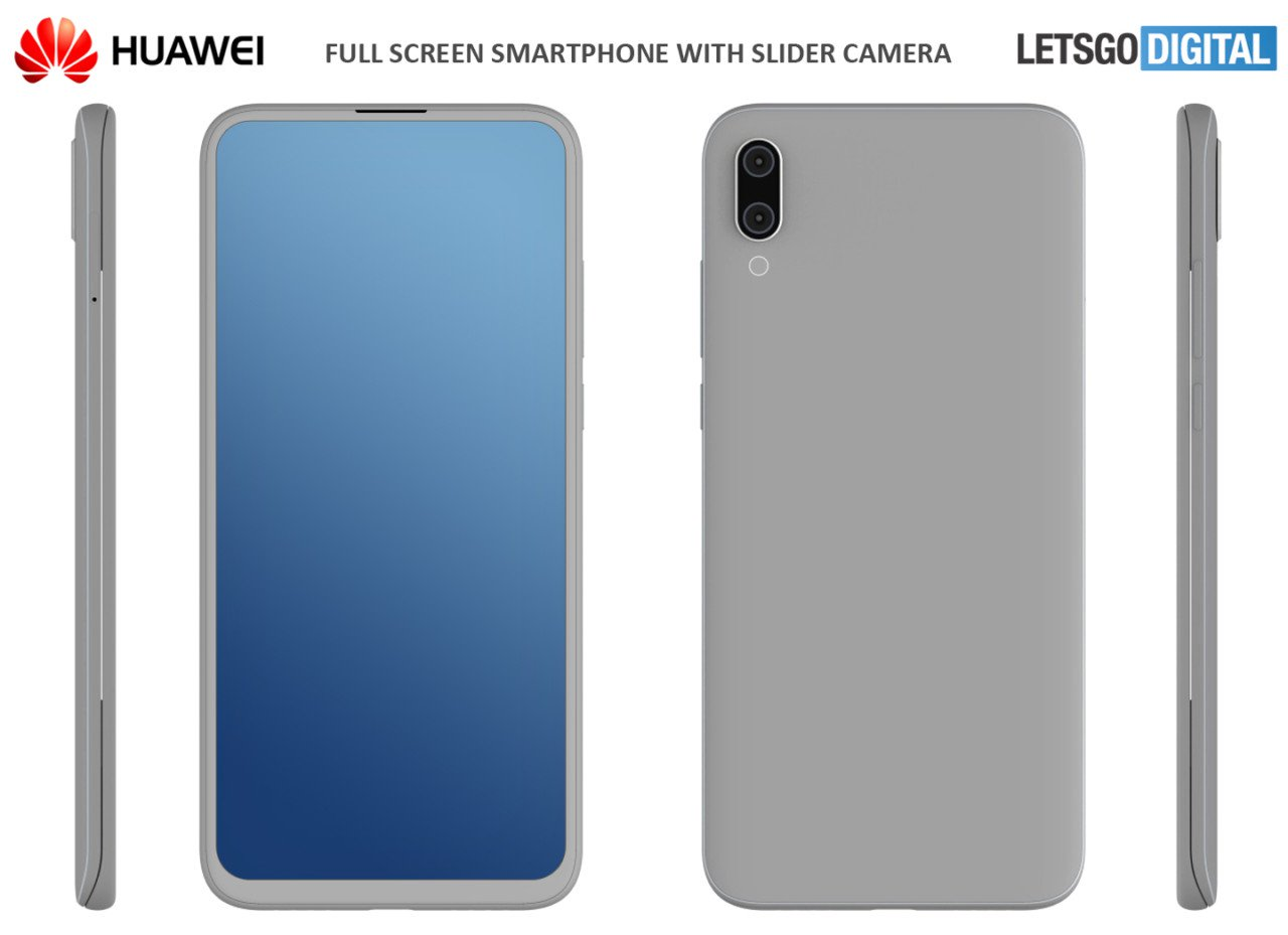 Huawei Patents A New Cameraphone With Slider Design And Dual Front-facing Digital Cameras
