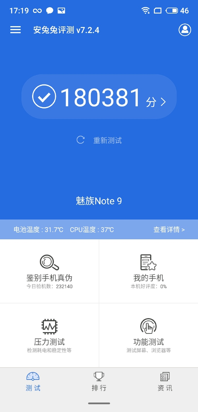 Meizu Note 9 Scores 180,381 Points On Antutu