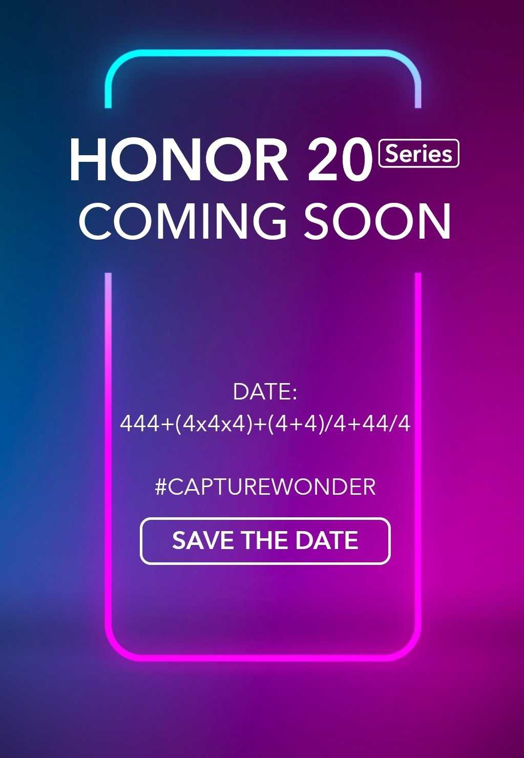 Honor 20 series launch date revealed