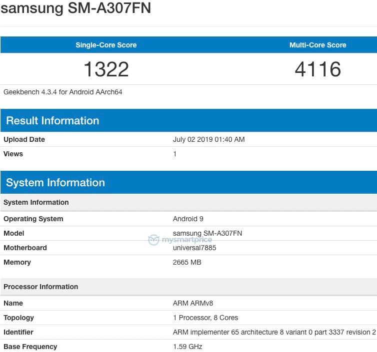 SM-A307FN-Geekbench