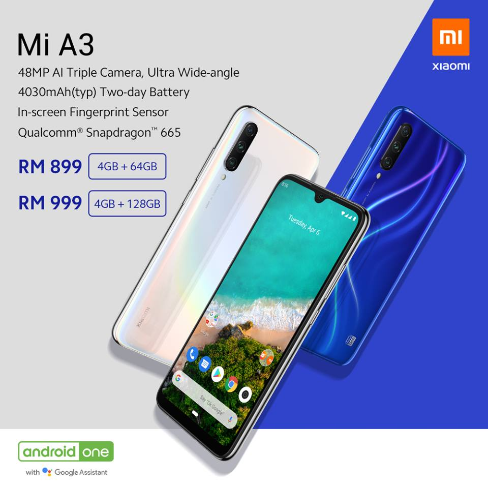 Xiaomi Mi A3 and Mi Smart Band 4 Launched in Malaysia