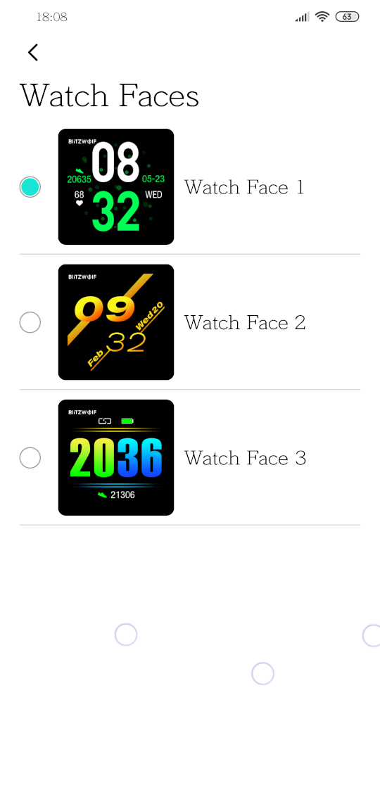 BlitzWolf BW-HL1 Smart Watch faces