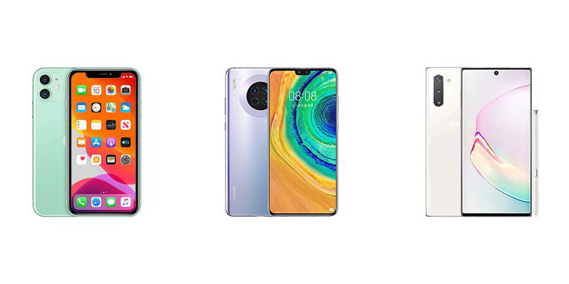 iPhone 11 vs Huawei Mate 30 vs Samsung Galaxy Note 10
