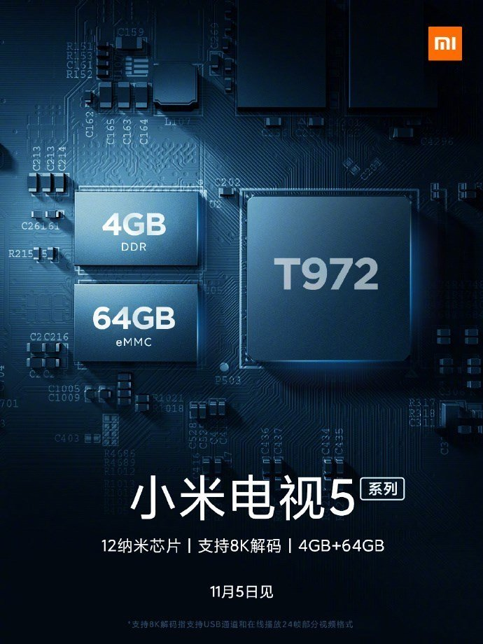 Live images of the Mi TV 5 surface online ahead of the 5th of November launch 3