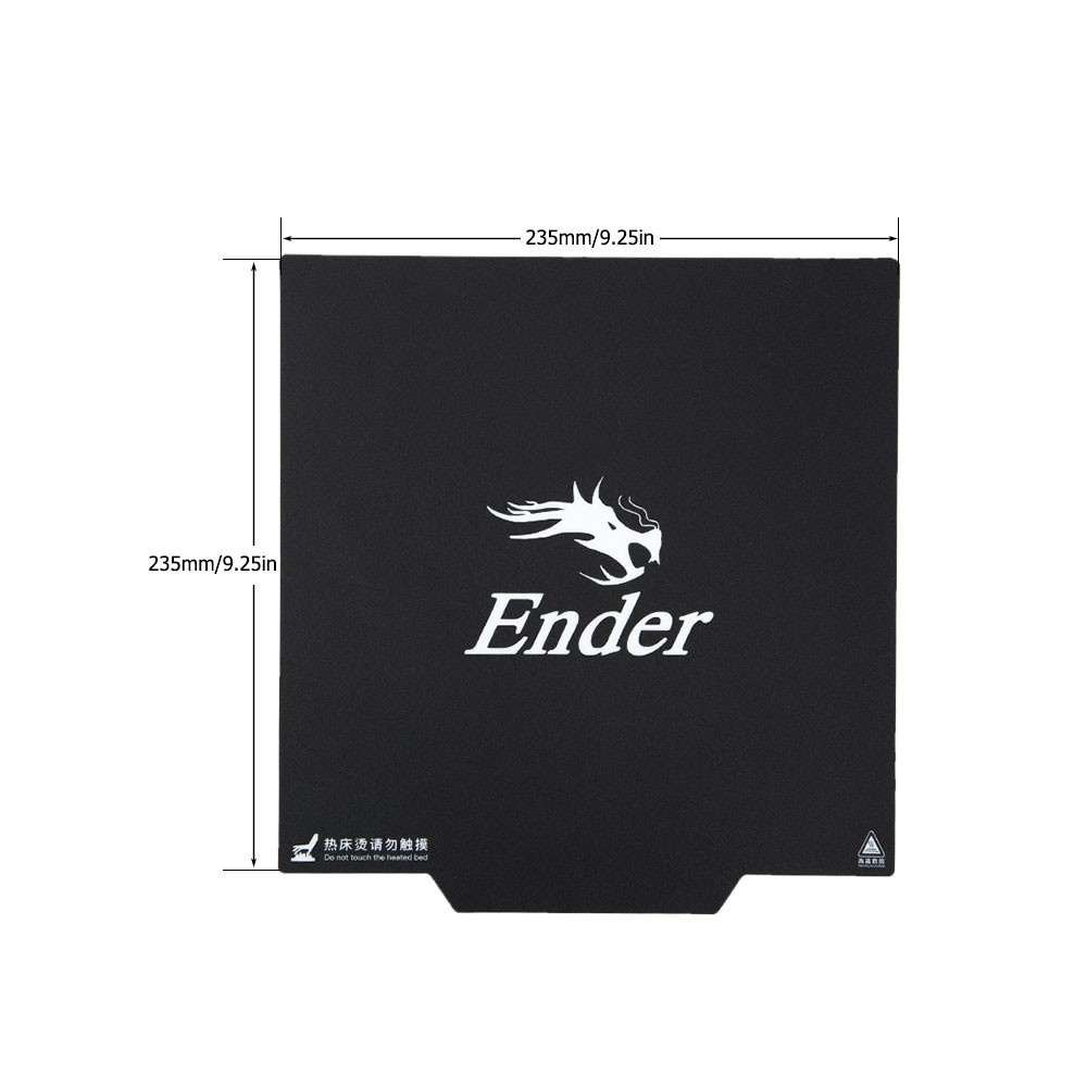 Creality 3D Ender-3 Upgrade Magnetic Build Surface Plate Sticker size