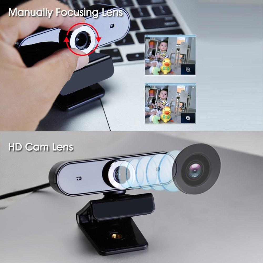 GL68 HD Webcam Video Chat Recording Usb Camera manual auto focus
