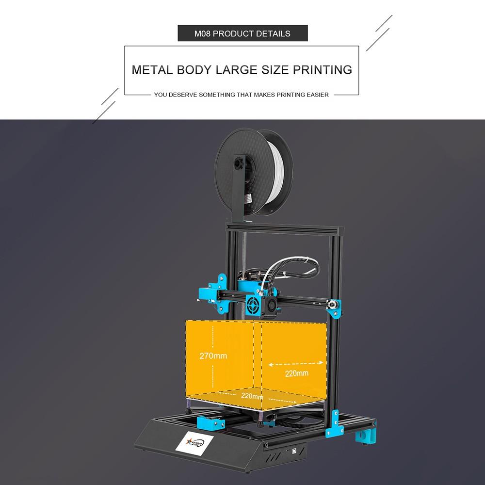 M08 High-precision 3D Printer 3.8 Inch Touchscreen DIY Self-assembly