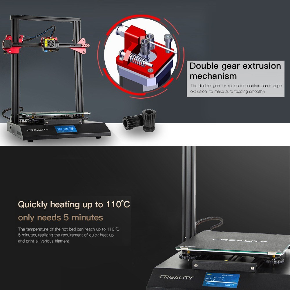 CREALITY CR-10S Pro Upgraded Auto Leveling 3D Printer DIY Self-assembly Kit 2