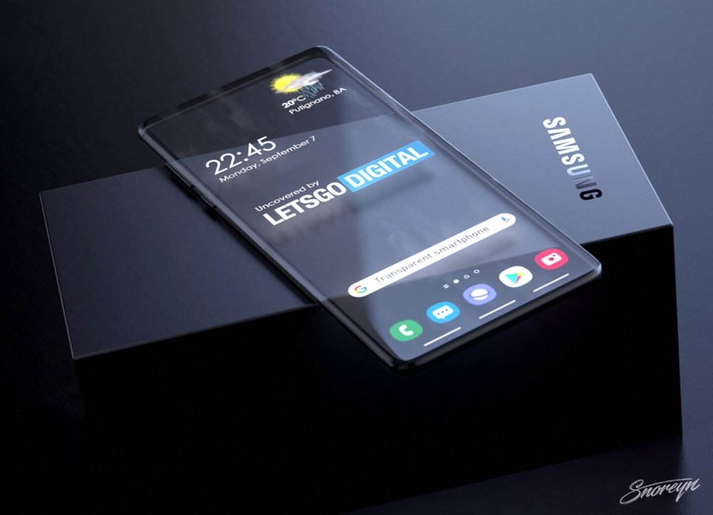 Samsung Galaxy  transparent display smartphone